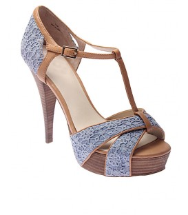Levity Platform Sandal- Blue/Brown