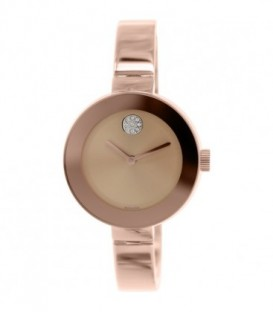 Movado Women's Bold 3600202 Rose Gold Stainless-Steel Swiss Quartz Watch